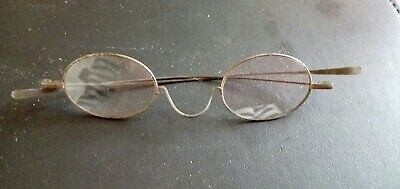 Vintage Pair Of PEBBLES Wire Rimmed Spectacles. Very Old with Prescription Lens