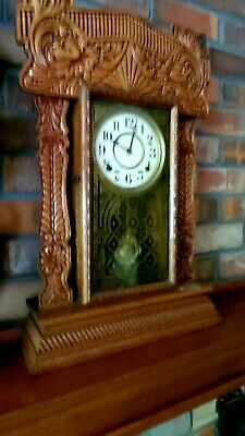 Antique Handcarved Grandfather Clock