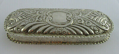 Victorian Silver Long Embossed Glasses Case Or Box, Chester 1899