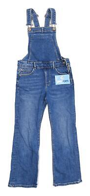 Zara Boys Blue Dungarees Jeans Age 9