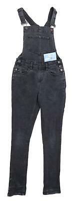 New Look Girls Black Dungarees Jeans Age 13
