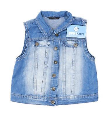George Girls Blue Gilet Age 11-12