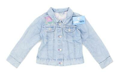 George Girls Floral Blue Jacket Age 4-5