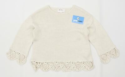 Zara Girls Cream Jumper Age 9-10