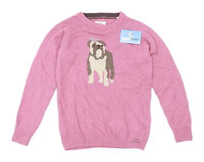Joules Girls Graphic Salmon Jumper Age 11-12