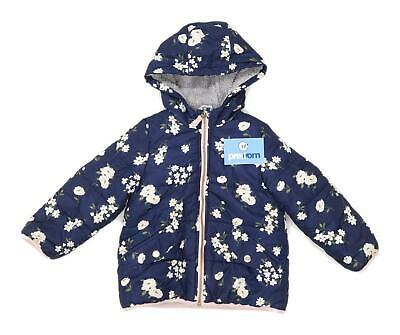 Carters Girls Floral Blue Heavyweight Coat Age 4