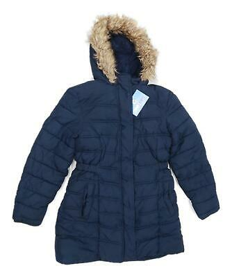 Bluezoo Girls Blue Heavyweight Coat Age 11-12