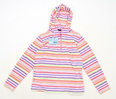 Peter Storm Girls Striped Multi-Coloured Hooded Fleece Age 11-12
