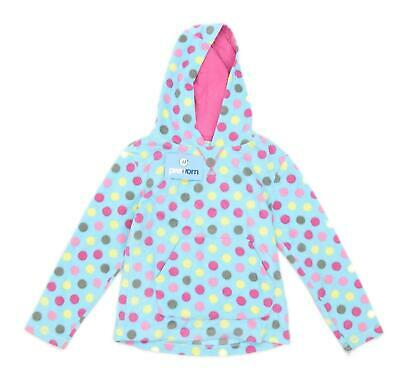 Peter Storm Girls Spotted Blue Hooded Fleece Age 9-10
