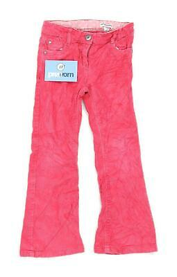 Vertbaudet Girls Textured Pink Trousers Age 5