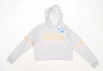 Primark Girls Graphic Grey Hoodie Age 14-15