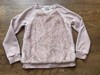 NEXT GIRLS PINK FURRY JUMPER  Aged 12 Years
