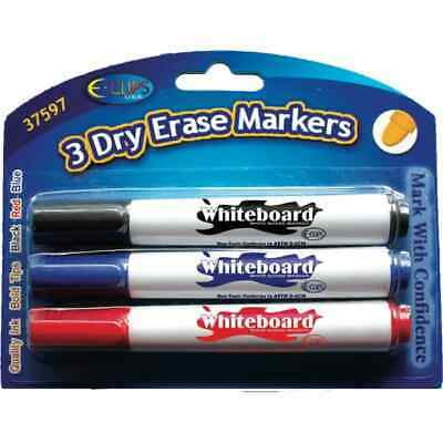 Dry Erase Markers - Assorted Colors - 3 pack