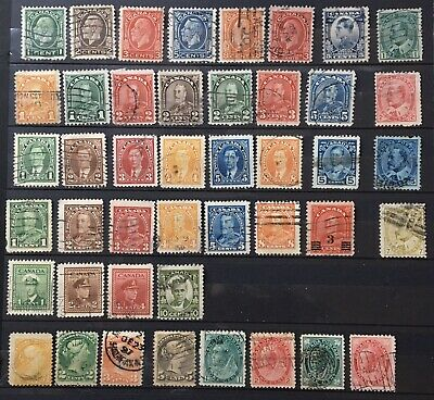 Older Selection Of Canadian Stamps All Different