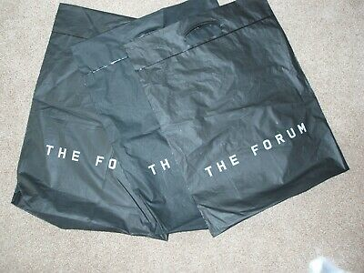 3 x The Forum Swindon Carrier Bags Black Stylish Excellent Quality