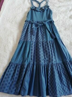 Blue Monsoon sun dress to fit girl age 9-10, immaculate condition.