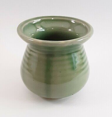 """Green Glazed 3"""" Planter   Pottery MADE IN CHINA   PO VG"""