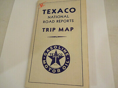 Huge Vintage 1933 Texaco Oil National Road Reports Map Northeast & Southeast US