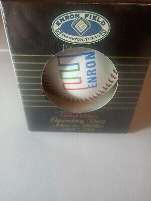 New In Box ENRON Field Opening Day Baseball 2000 Houston Astros April 7 2000