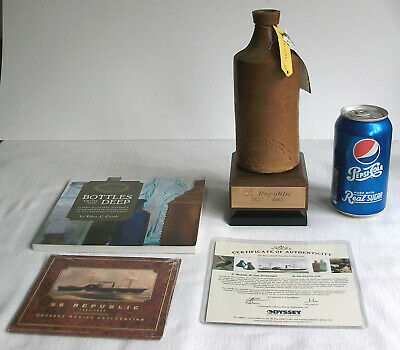 SS Republic Shipwreck J. Bourne & Son Stoneware Master Ink Bottle - Civil War