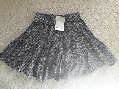 Next Girls Black And White Skirt Age 3 Years Brand New With Tag