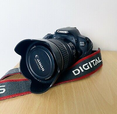 Canon EOS 700D 18.0MP Digital SLR Camera. With Canon 17-85mm f4-5.6 IS USM