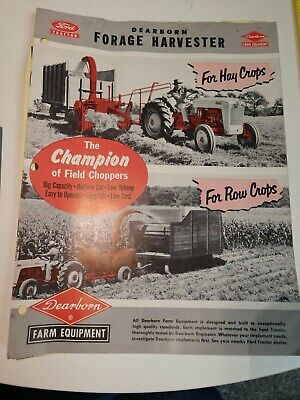 Ford Dearborn Forage Harvester Sales Brochure 1953 Vintage Farm Equipment