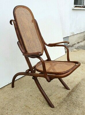 Thonet  Kaminsessel -  Bugholz  -   Ca. 1905  -  Signiert !