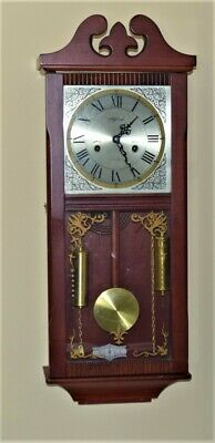 Antigue Large  Winding Pendulum Wall Highland Clock 31 Days