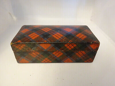 Antique Tartanware Box Kerr & Co Sewing Cottons
