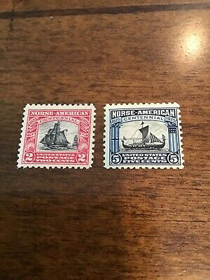 U S Stamps Scott  620-1 Norse American Issue  Mint Never Hinged. Lot 130.