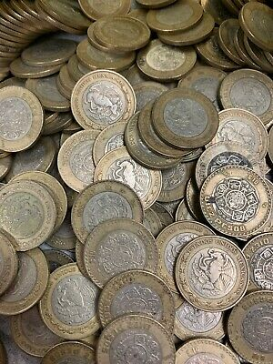 Bulk Mexican $1,  $2, $5 and $10 Peso Coins  Item #1234