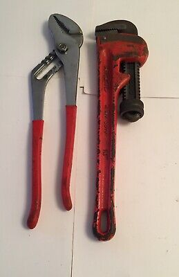"Ridgid USA Heavy Duty 14"" Pipe Wrench & No 732 Wrench Pre-owned"