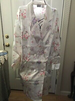 Kathryn Robe, M, Multi color, Floral, L/S, 55%C, 45%P, NWT