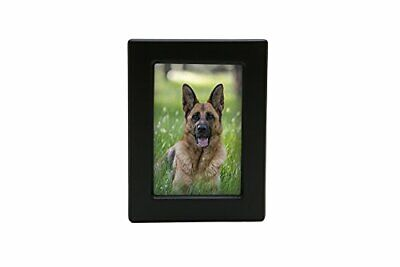Near & Dear Pet Memorials MDF Photo Urn, 85 Cubic (85 Cubic Inches|Black)