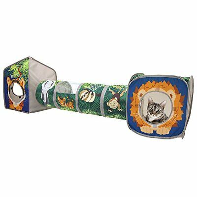 Kitty City Pop Open Jungle Combo,Collapsible Cat Cube, Play (Jungle Combo)