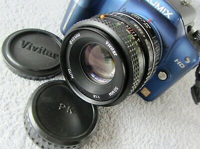 TESTED RARE VIVITAR F1.8 50mm FIXED PRIME LENS - PENTAX PK FIT - ADAPT DSLR M4/3