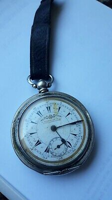 Silver-O.800 Antique K. Serkisoff Billodes/Zenith Ottoman Pocket Watch 1895