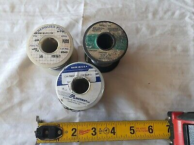 Solder Lot, 3 rolls. Flux core, solid wire