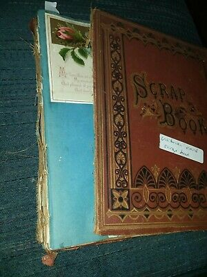 Victorian Scrap Book Christmas And Birthday Cards, Salesmans Samples?