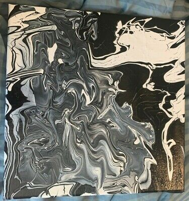 Abstract Black and White Painting. Representation of Depression