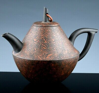 Great Quality Old Chinese Marbled Yixing Zisha Clay Wine Pot Teapot Seal Mark