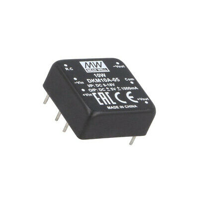 DKM10A-05 Converter: DC/DC 10W Uin: 9-18V Uout: 5VDC Uout2: -5VDC 18g MEAN WELL