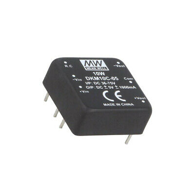 DKM10C-05 Converter: DC/DC 10W Uin: 36-75V Uout: 5VDC Uout2: -5VDC 18g MEAN WELL