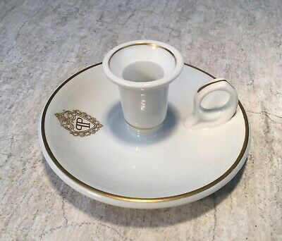 THE PLAZA HOTEL New York City NYC vintage CANDLE HOLDER Lamberton Scammell China