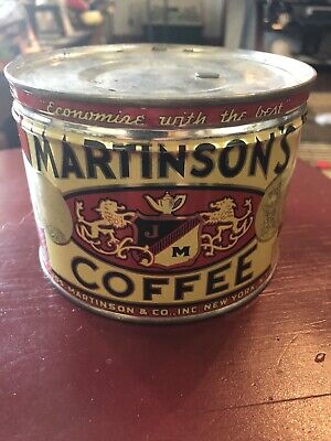 Vintage Martinson's 1 pound Coffee Can Tin