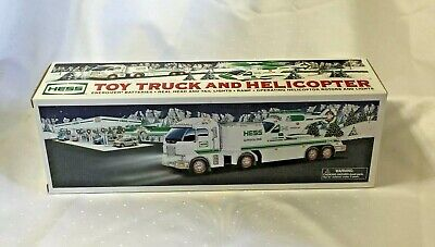 HESS GASOLINE Collectible 2006 TOY TRUCK AND HELICOPTER Set NOS