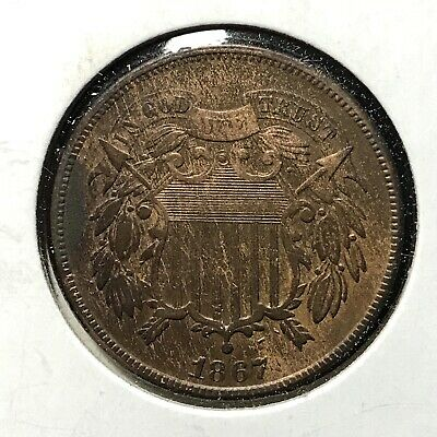 1867 2c TWO CENT TYPE *VERY FINE PLUS DETAILS COIN* LOT#AJ77