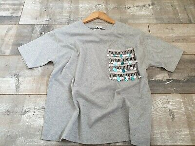 NEW Girls/ladies River Island XS Grey T Shirt With Detail Pocket