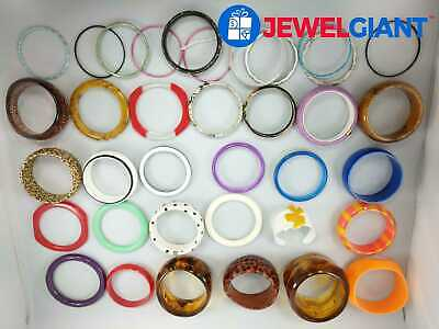 ASSORTED COSTUME JEWELRY BANGLES VARIOUS DESIGNS AND COLORS  #be041
